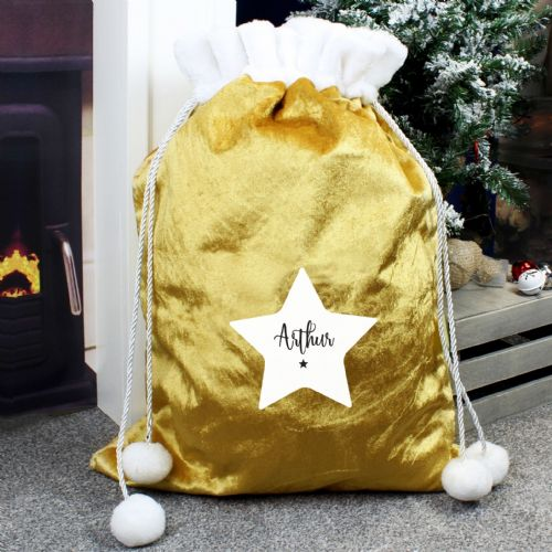 Star Luxury Pom Pom Gold Sack